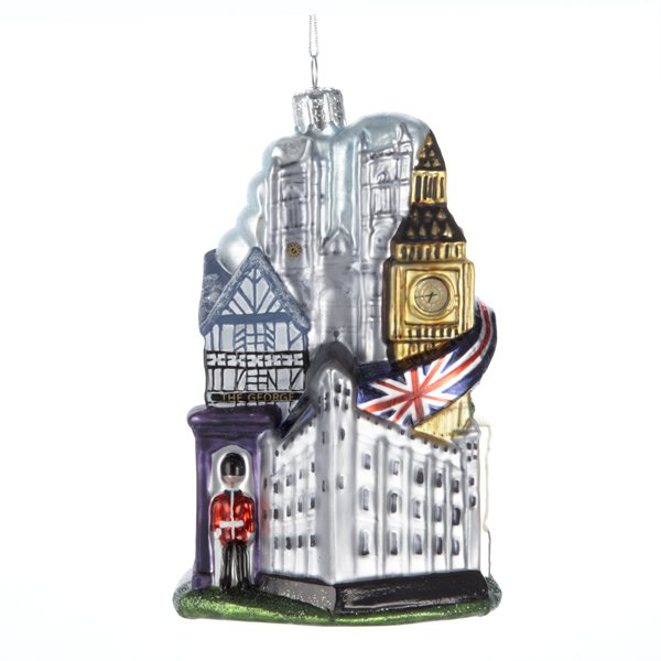 Where To Buy Christmas Decorations London: London England Blown Glass Christmas Ornament UK British