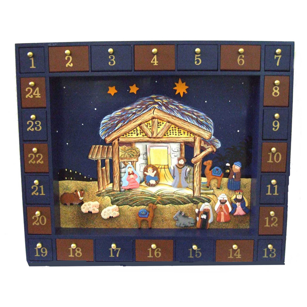 Wooden nativity advent calendar magnetic activity set How to build a wooden advent calendar