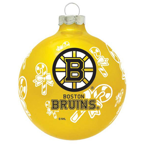 Boston Christmas Tree Delivery: Boston Bruins NHL Hockey Glass Christmas Ornament Holiday