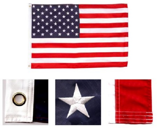 Embroidered USA United States Flag 3x5 Foot 210D