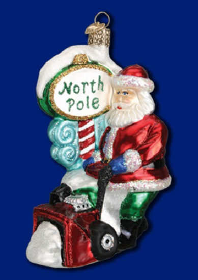 Snow Blower Santa Old World Christmas Blown Glass Ornament 40232 Decoration New