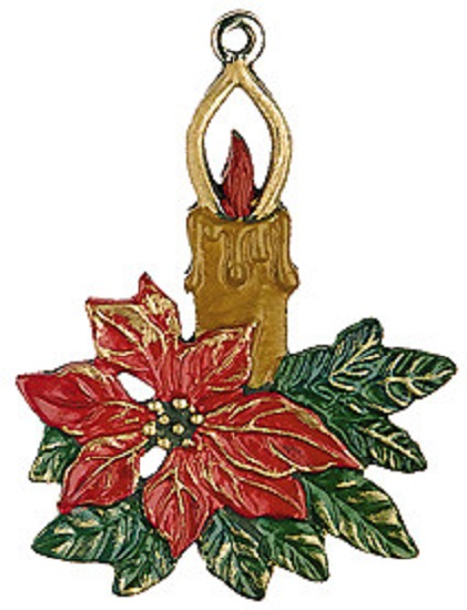 christmas candle german pewter ornament poinsettia christmas candle ...