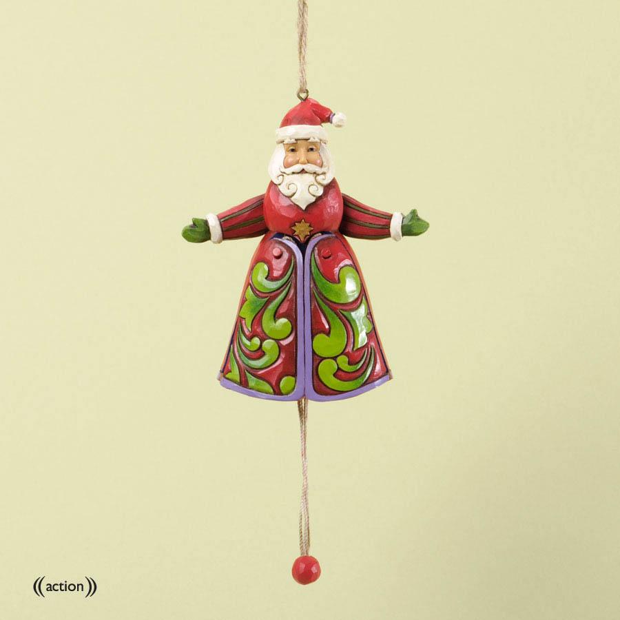 Jim shore pull string santa claus christmas ornament 4034413 heartwood creek new ebay - String ornaments christmas ...