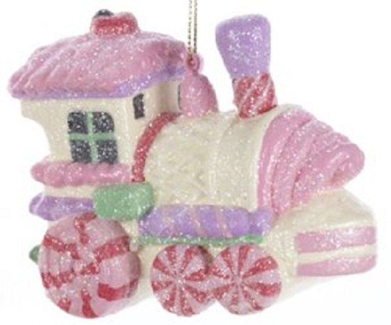 Details about Sugar Plum Glitter Candy Train Christmas Tree Ornament ...