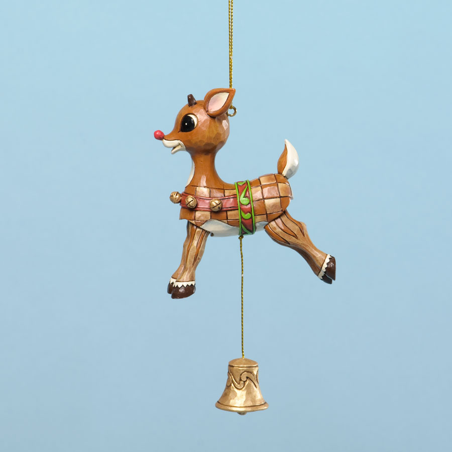 Jim shore rudolph the red nosed reindeer pull string christmas ornament 4034902 ebay - String ornaments christmas ...