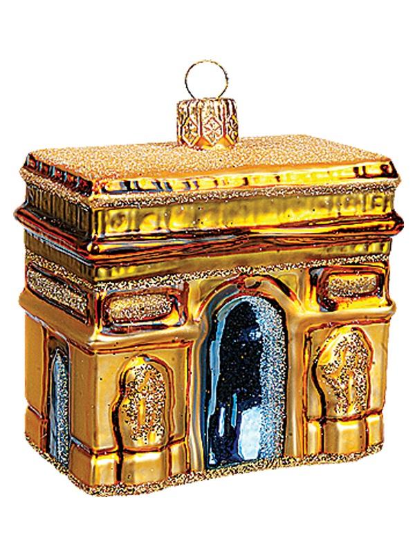 Mini arc de triomphe paris france polish glass christmas for Arc decoration arques