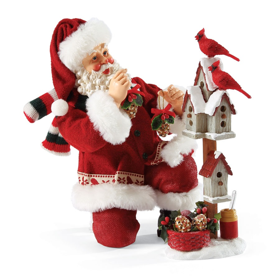 Possible dreams bird feeder santa claus christmas figurine