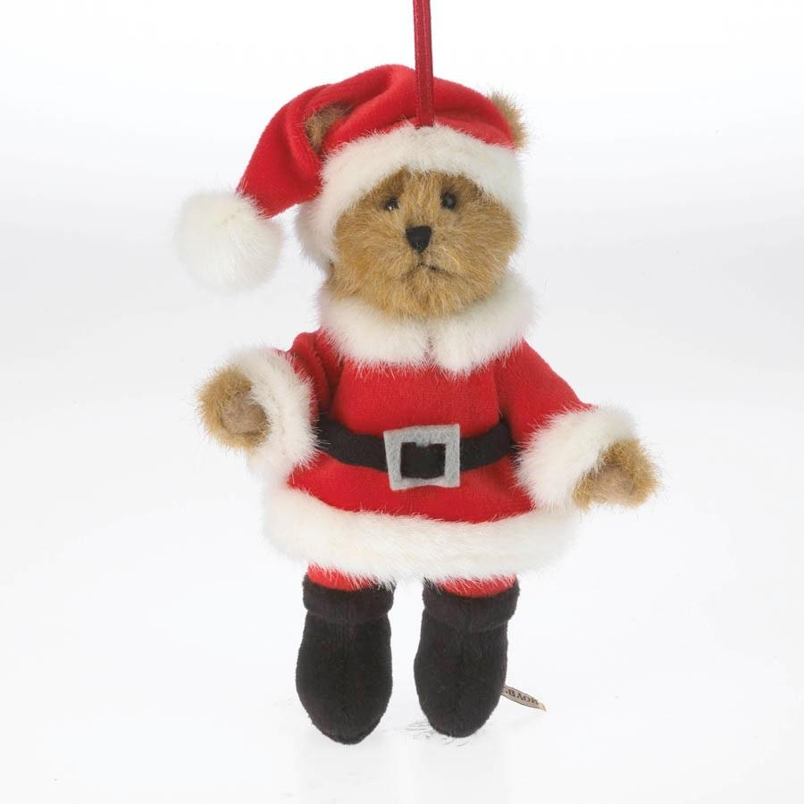 Boyds bears santa claus teddy bear plush christmas