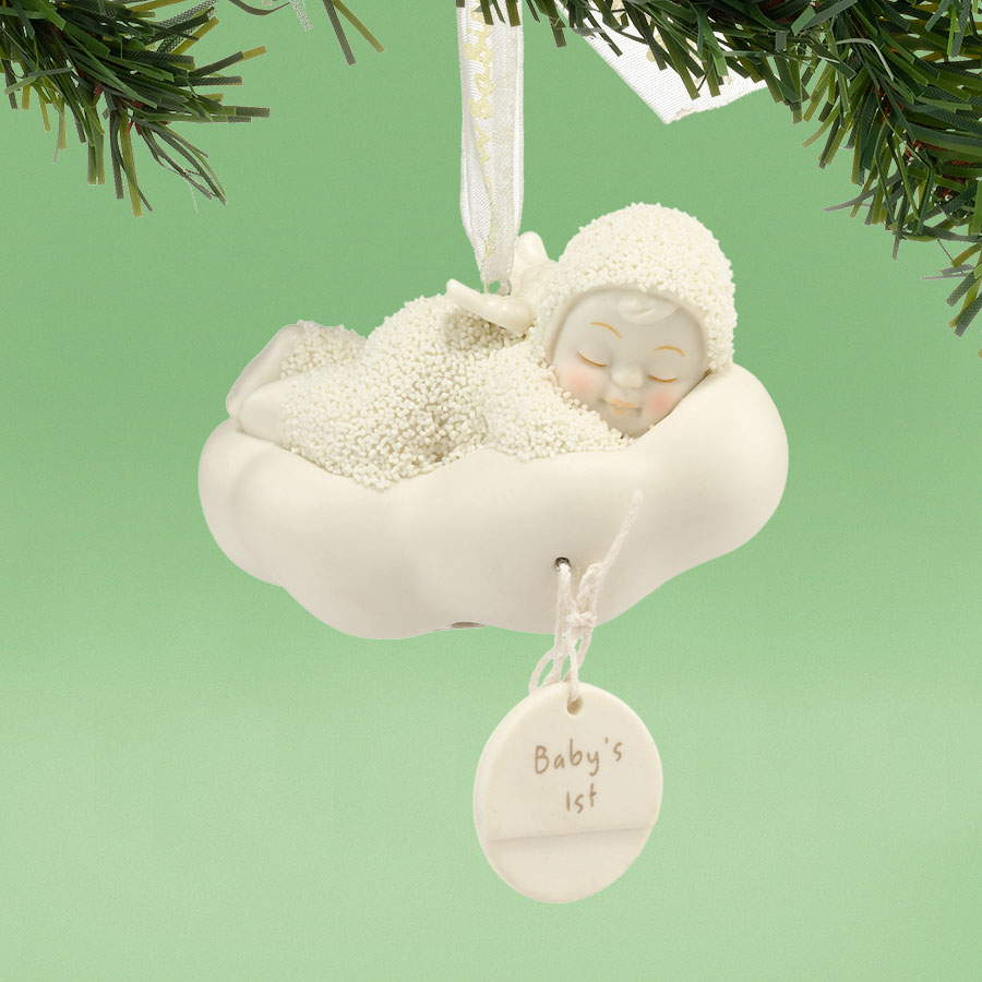 Snowbabies sleeping baby 39 s first christmas ornament for Babys first christmas decoration