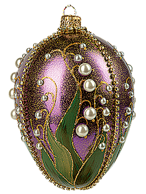 Faberge Inspired Purple Lilies of the Valley Egg Polish ...